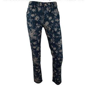 Lauren Jeans co size 14 flowered jeans